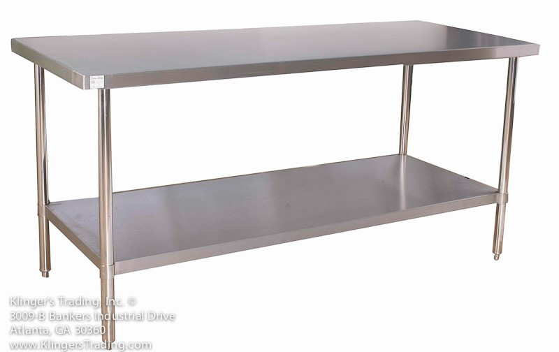 All Stainless Steel Commercial Kitchen Prep Table