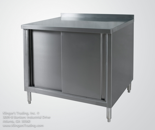 commercial restaurant work table storage cabinet