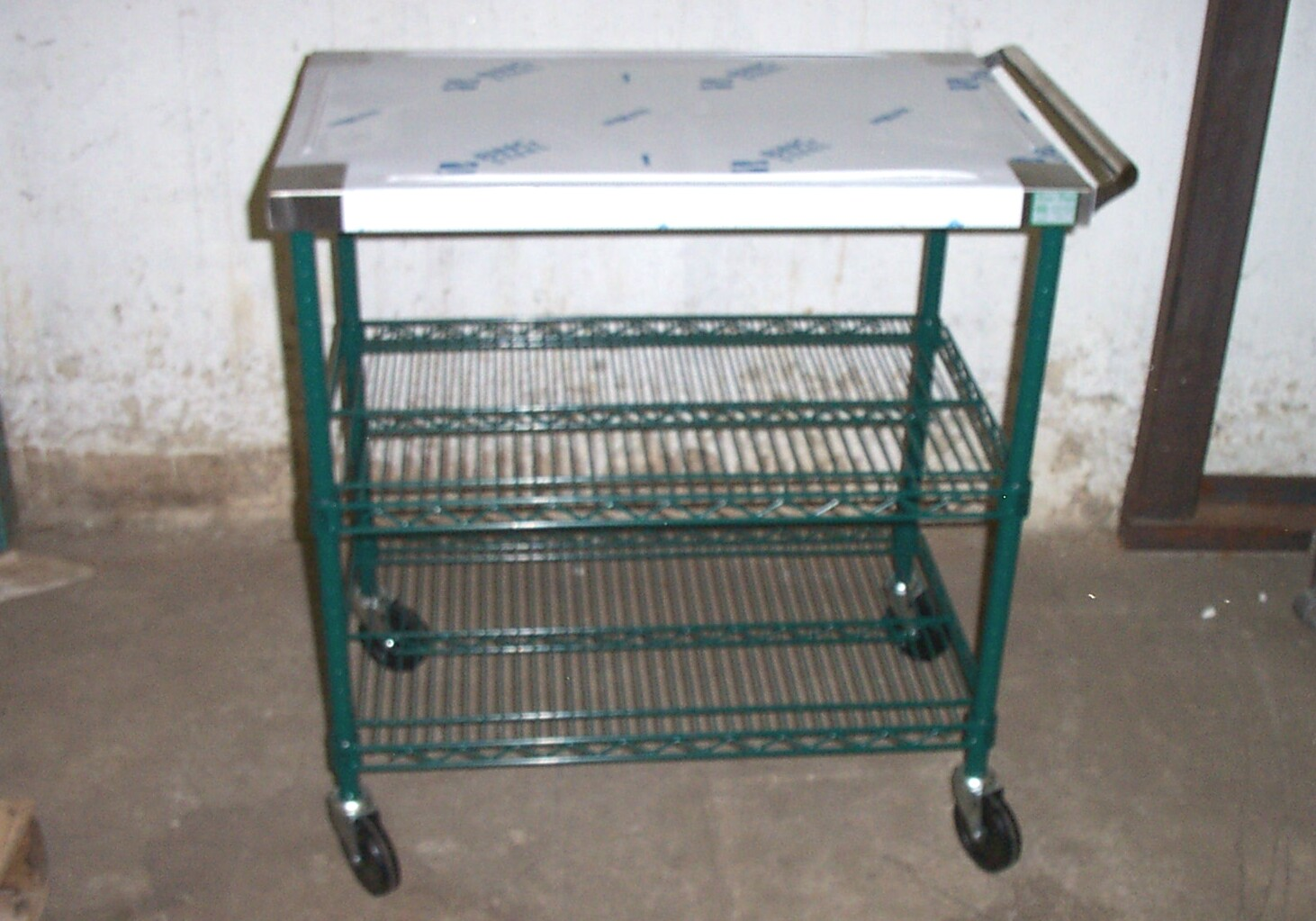 commercial serving cart