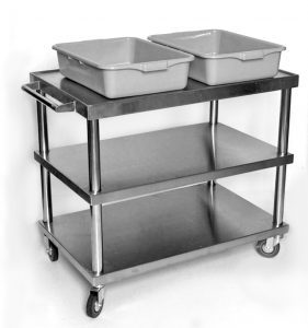 stainless steel serving bus cart large