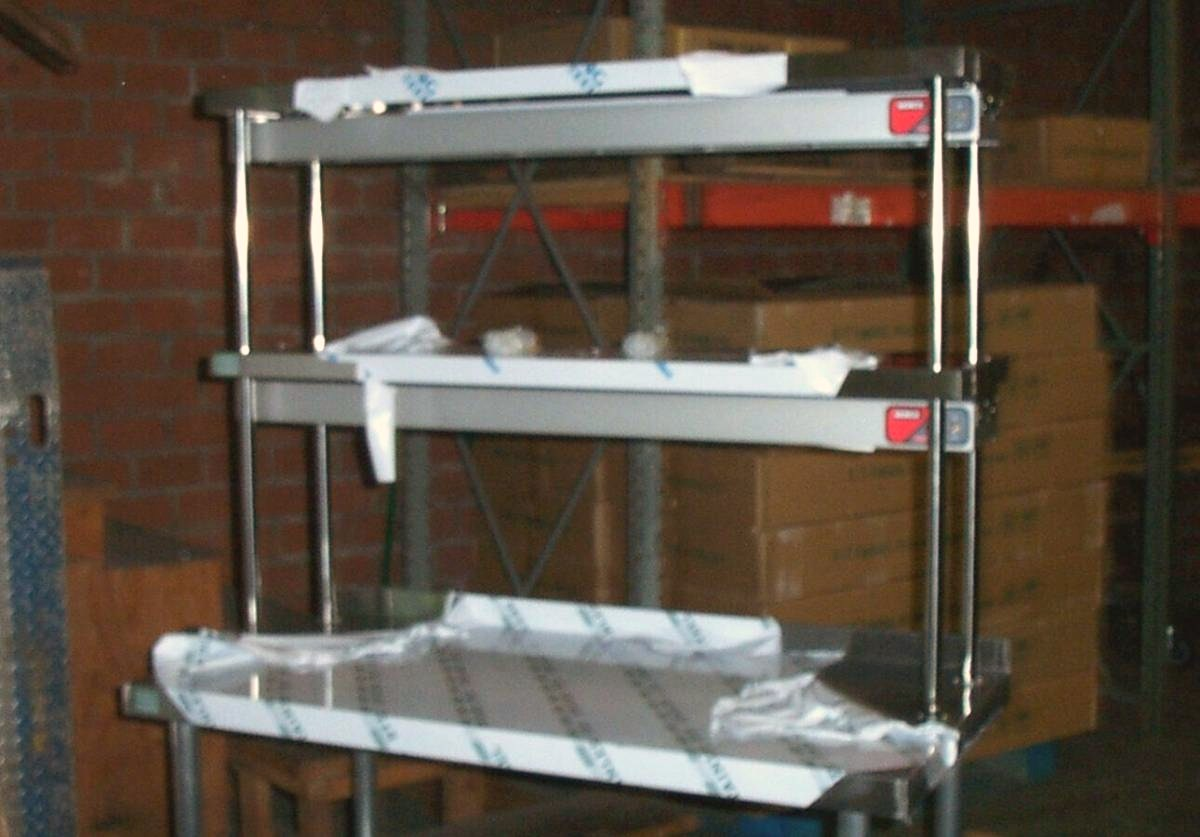 Stainless Over Shelves Commercial Over Shelving Restaurant Over