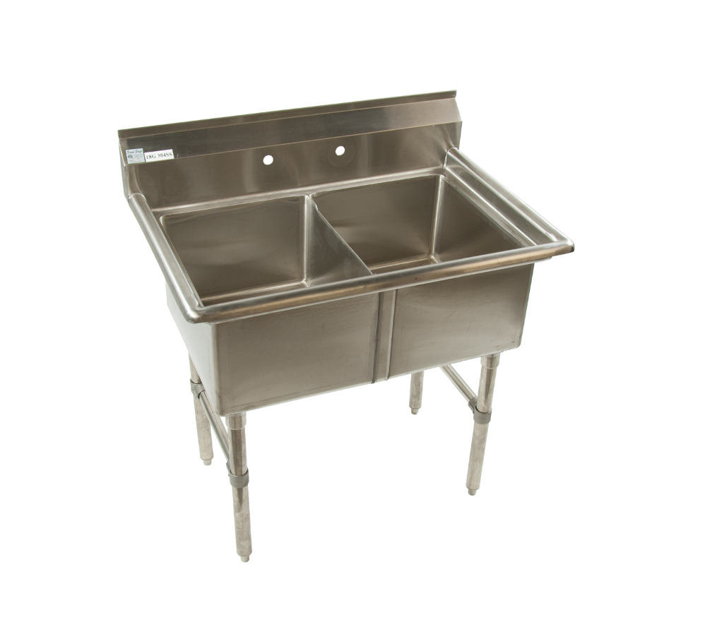 2 Compartment Commercial Kitchen Sink