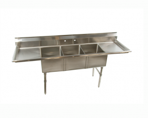 Stainless Steel Commercial Restaurant Sink 3 Compartment ...