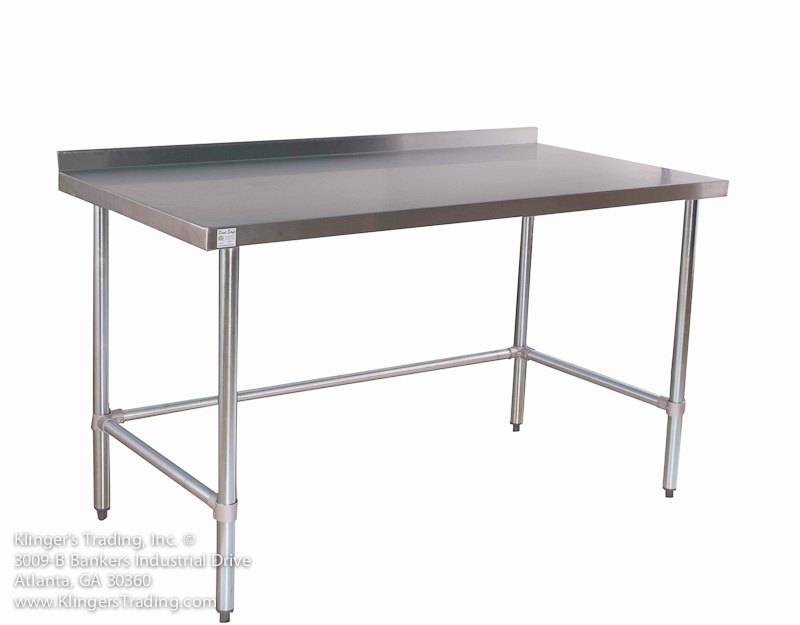 Stainless Work Tables With No Under ShelfOpen Base Kitchen Tables - 18 x 48 stainless steel work table
