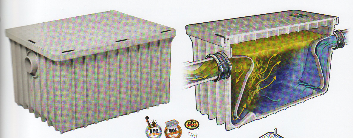 polypropylene plastic grease trap interceptor