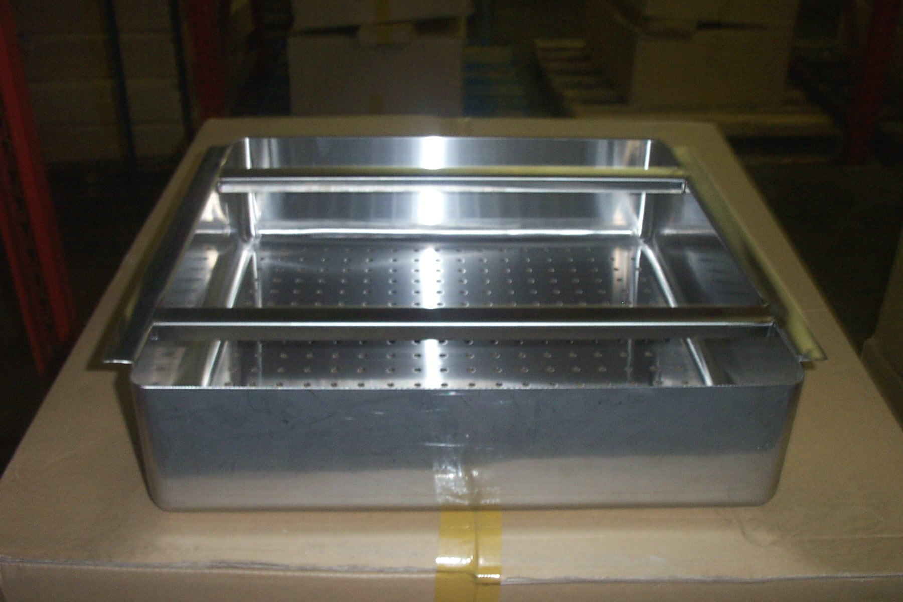 stainless steel scrap basket soiled table
