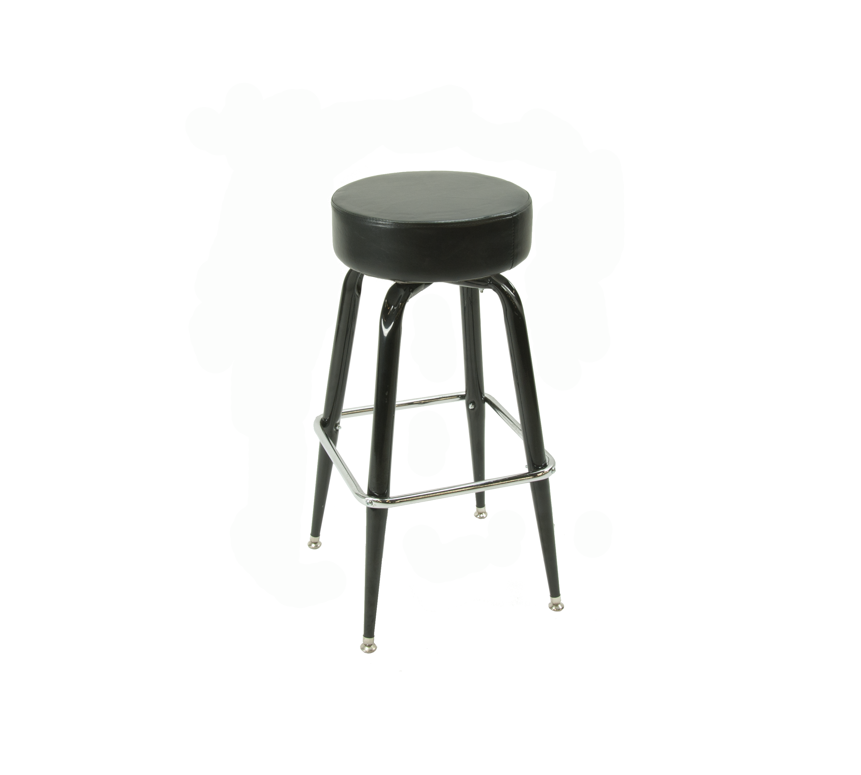 Chrome Double Ring Bar Stools Chrome Bar Stools With