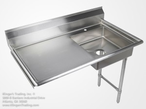stainless steel under counter dish table