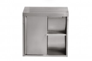 Stainless Steel Wall Cabinet With Sliding Doors
