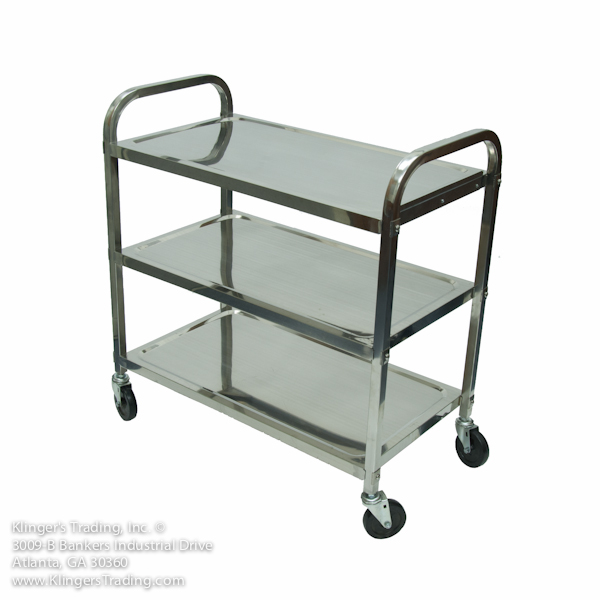 Unique Stainless Steel Bar Cart