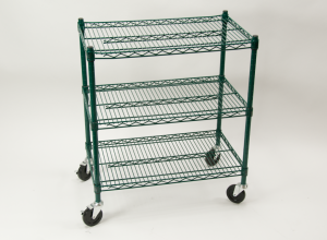 commercial restaurant wire shelving cart epoxy coated