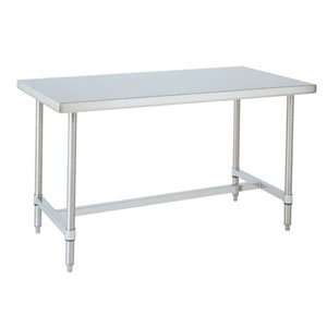 Stainless Steel Commercial Open Base Table H Frame