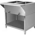 stainless steel restaurant electric buffet table