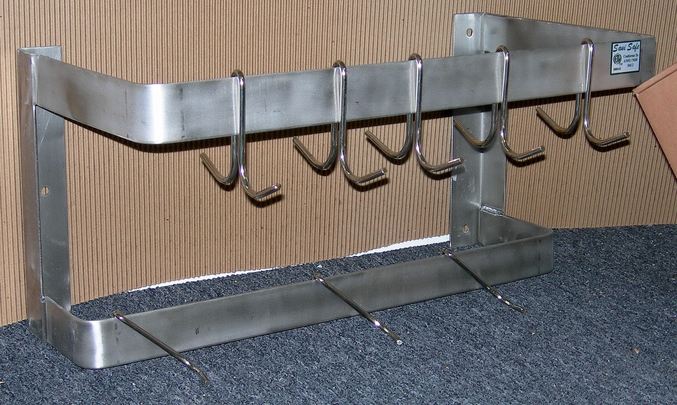 commercial restaurant wall mounted pot rack